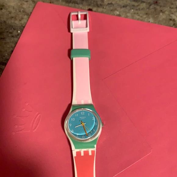 FINALSwatch Watch LW146 De Travers Pink Green blue